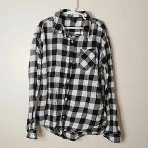 ❄️FOREVER 21 GIRLS Plaid Long Sleeve Size 11/12